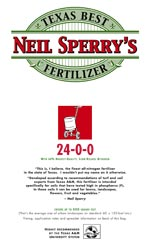 Neil Sperry's Texas Best Fertilizer 24-0-0